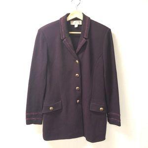 St. John Collection Sz 8 knit suit blazer jacket
